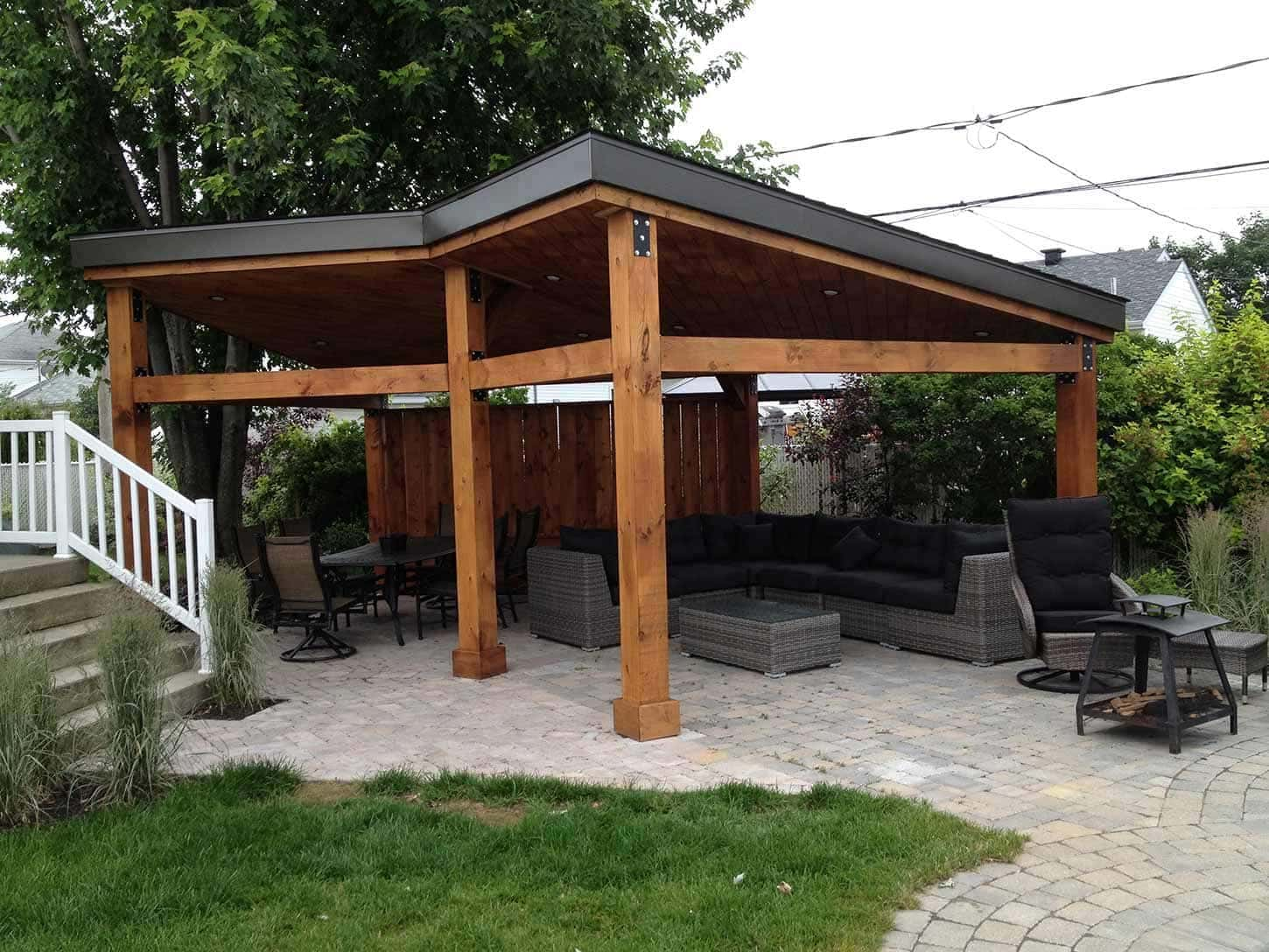Gazebos custom build garden pavilions pur patio for Cenadores de jardin