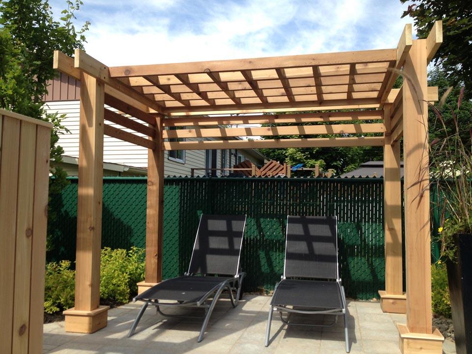 construire pergola bois perso excellent veranda en bois. Black Bedroom Furniture Sets. Home Design Ideas