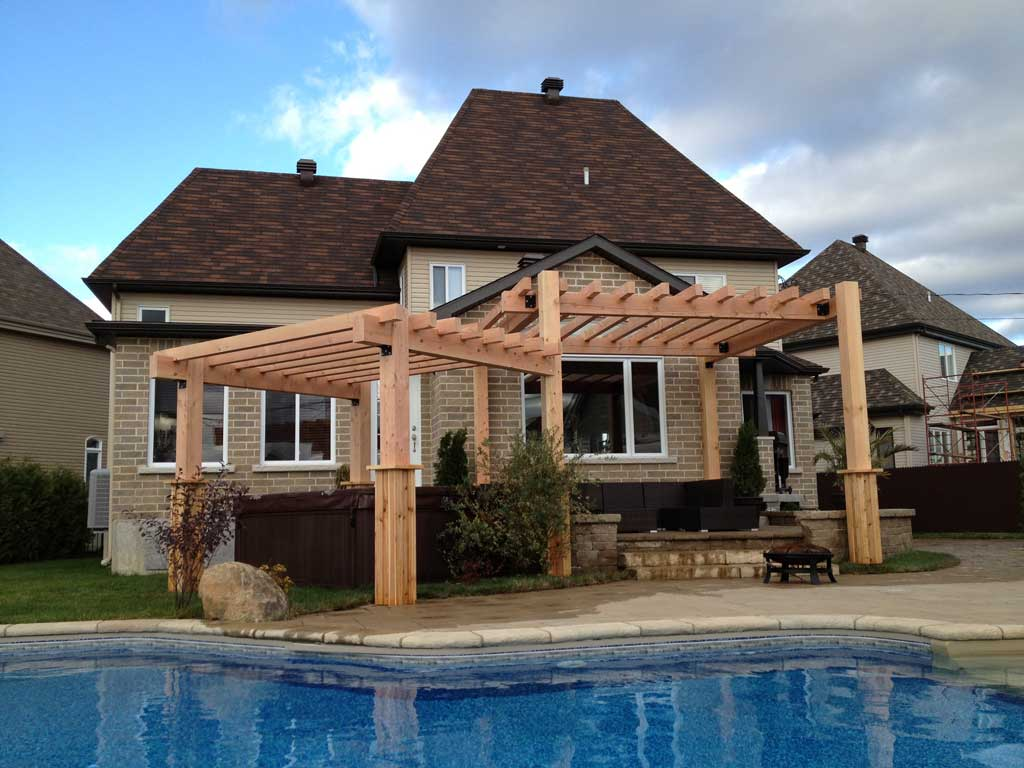 pergola moderne terrebonne pur patio. Black Bedroom Furniture Sets. Home Design Ideas