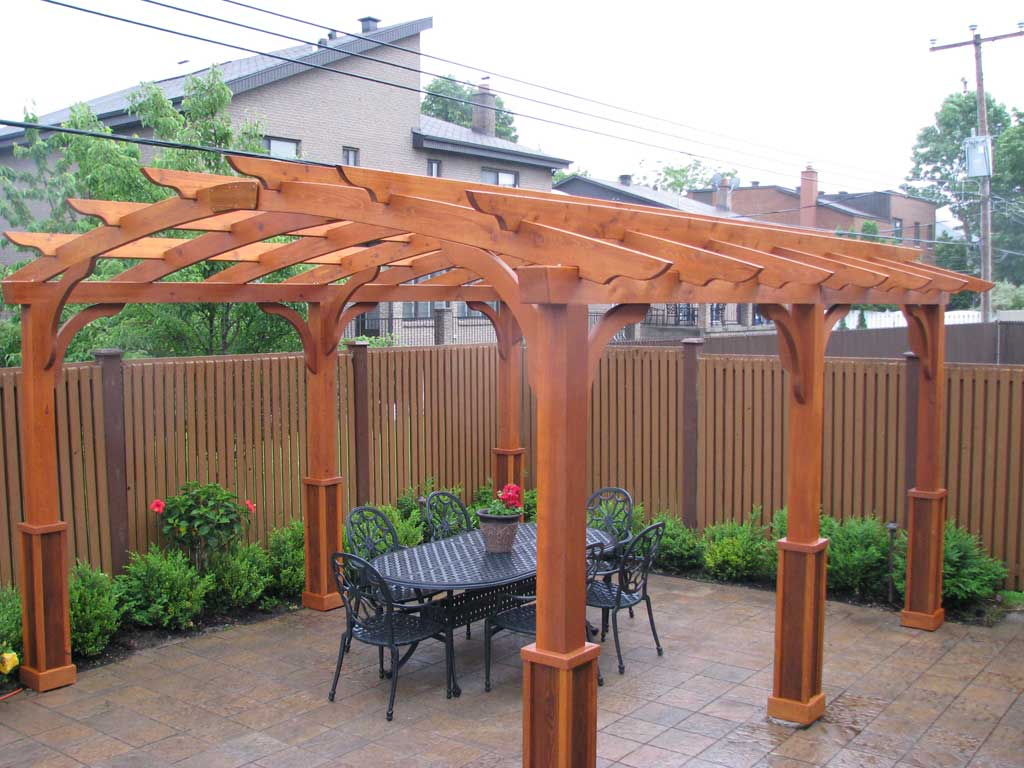 Pergola en c dre de qualit select pur patio for Plan pour patio exterieur gratuit