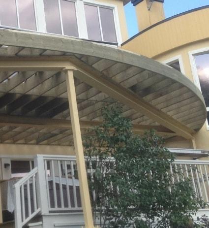 Structure de patio en acier