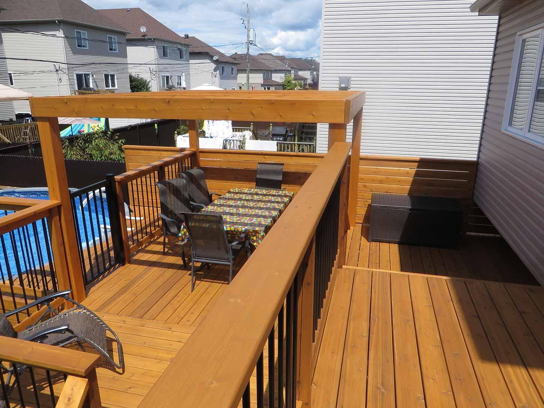 terrasse de piscine hors terre pur patio. Black Bedroom Furniture Sets. Home Design Ideas