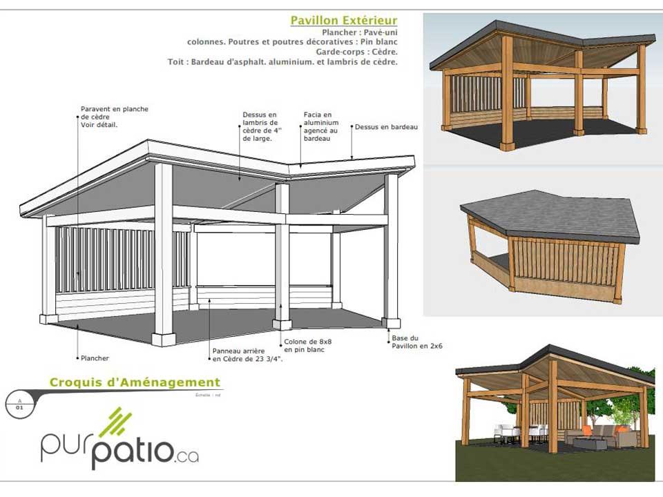 Beautiful plan de patio images for Plan de plateforme patio