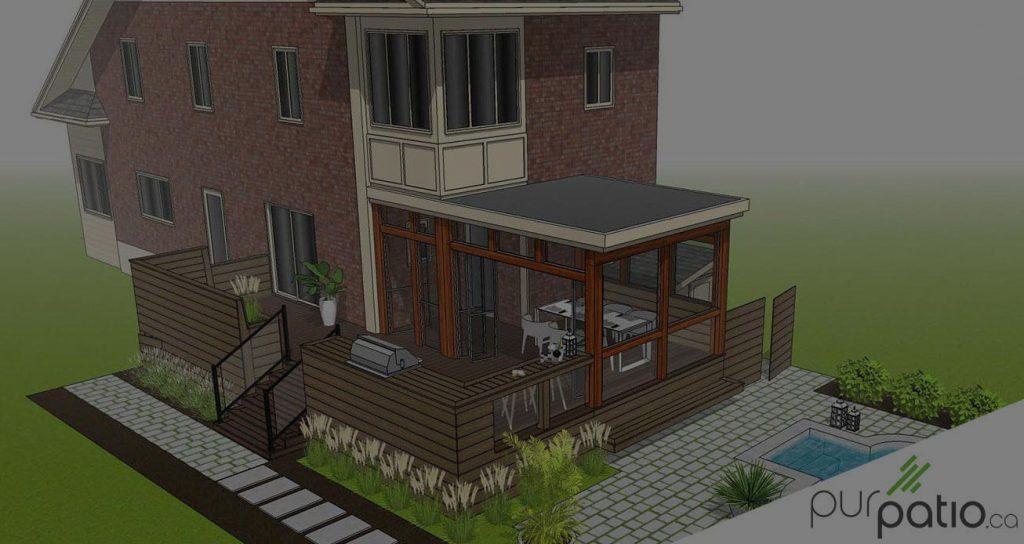 patio composite ville Mont-Royal