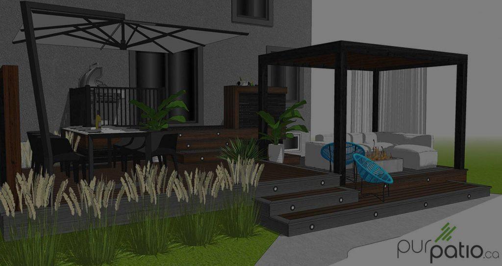 Terrasse Trex composite