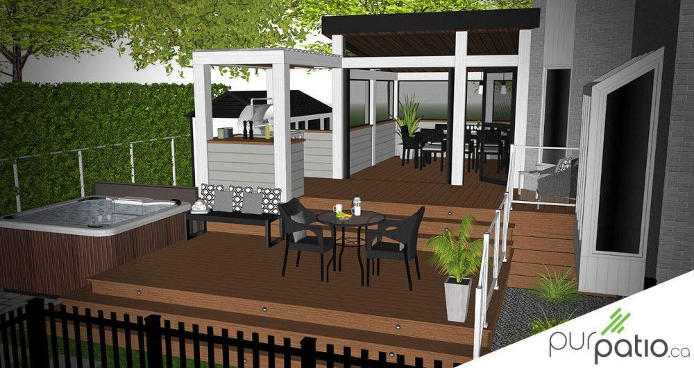 patio avec paliers