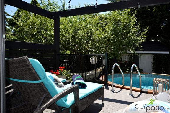 patio piscine trex