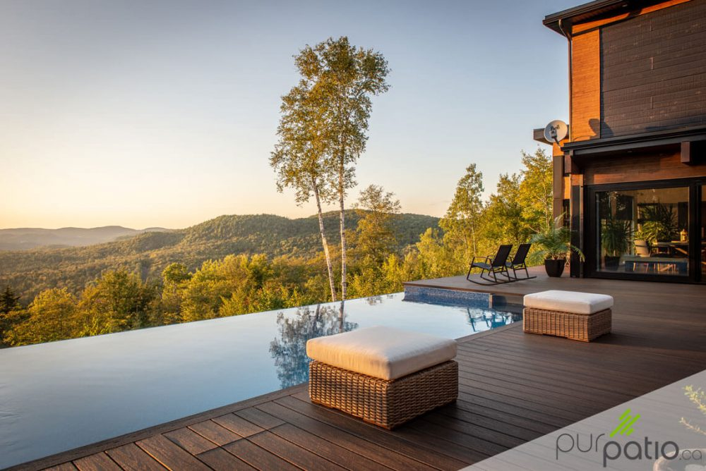 patio piscine débordement