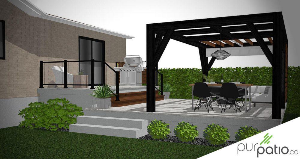 patio pergola moderne
