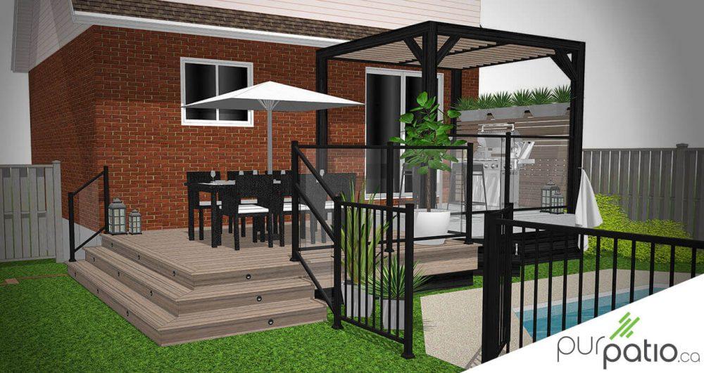patio avec pergola