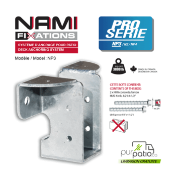 Nami Fixation NP3 support patio