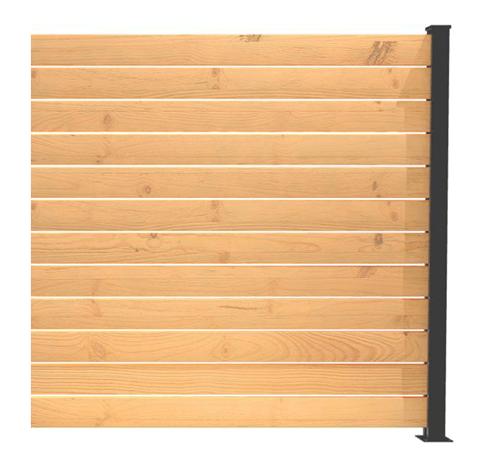 Panneau intimité balcon Hoft Solutions poteau de fin KIT A6