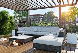 Paravent intimité lounge Blocks