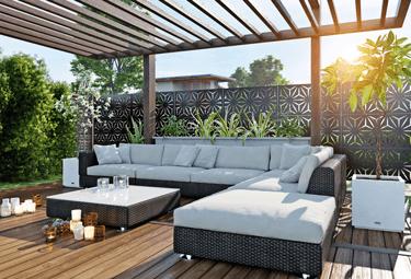 Paravent intimité lounge Star