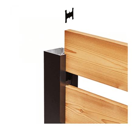 Poteau aluminium noir Hoft Solutions poteau de FIN KIT A6 73 1/2