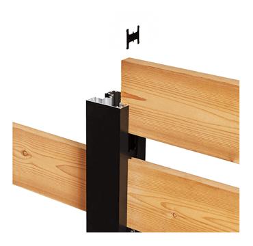 Poteau aluminium noir Hoft Solutions poteau de ligne KIT C6