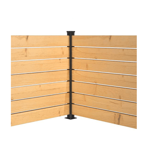 Panneau intimité balcon poteau aluminium coin Hofts Solutions