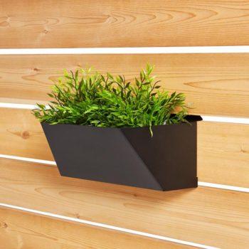jardinière rectangulaire noire courte