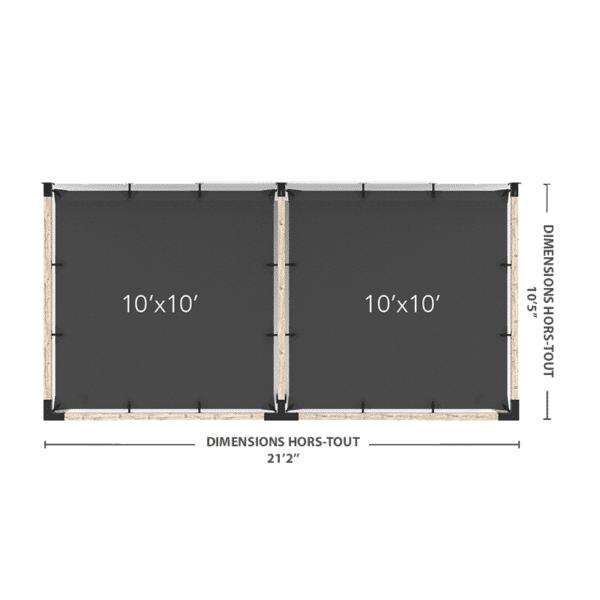 pergola murale double 20x10