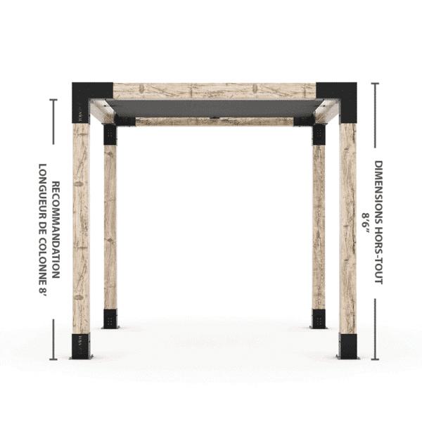pergola 6x6 autoportante hauteur