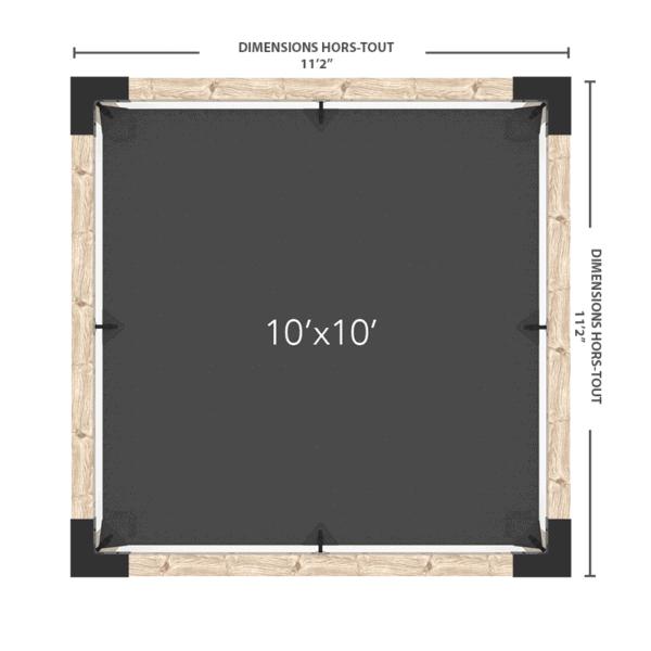 pergola avec voile 10x10 dimensions