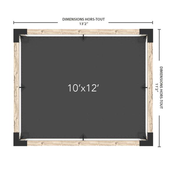 pergola voile 10x12 dimensions