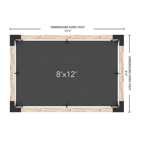 pergola avec voile 8x12 dimensions