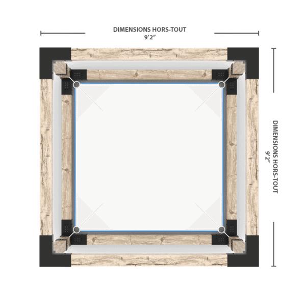 pergola hammac dimensions