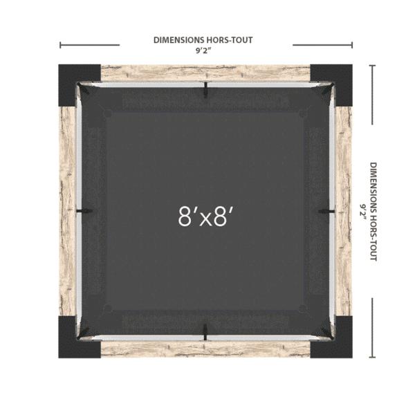 pergola hammac 8x8