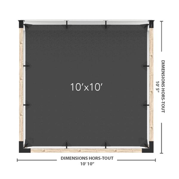 pergola murale 10x10