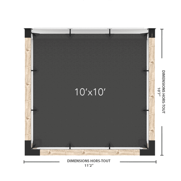 """pergola murale 6"""" 10x10"""