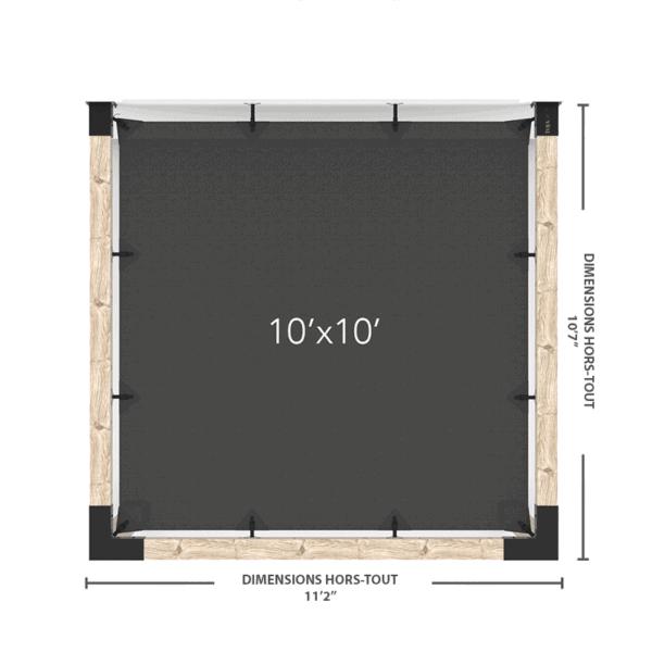 pergola murale voile 10x10