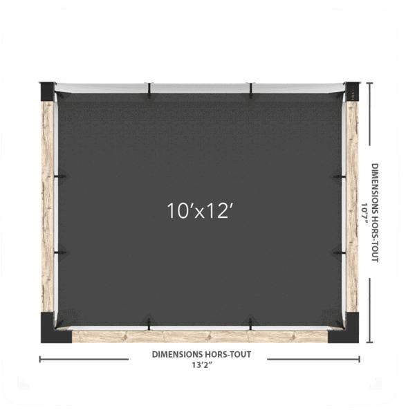 pergola murale voile 10x12