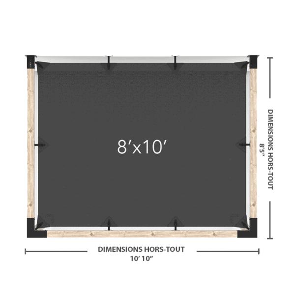 pergola murale 8x10