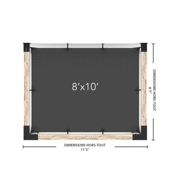 """pergola murale 6"""" 8x10"""