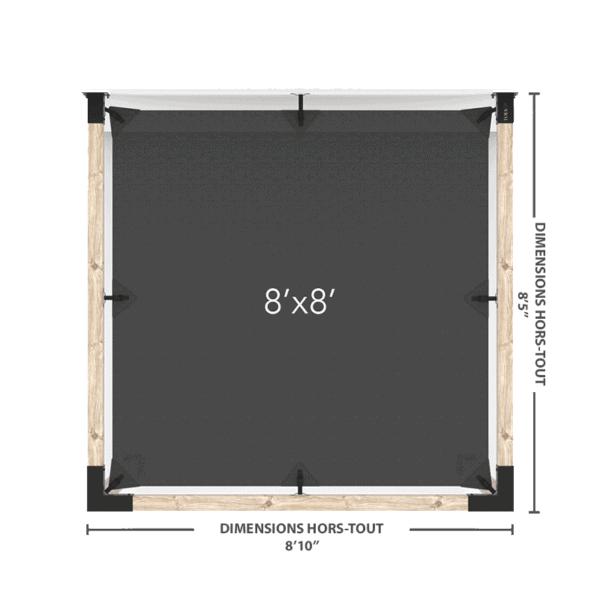 pergola murale 8x8