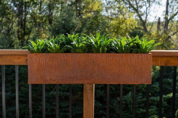 jardinière rectangulaire corten lifestyle
