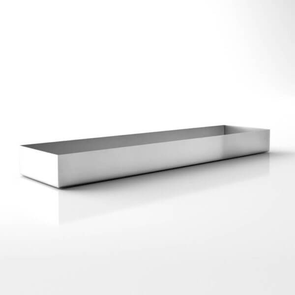 jardinière rectangulaire stainless steel