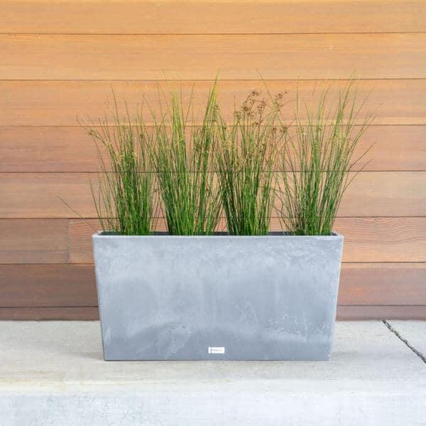 jardinière rectangulaire grise lifestyle