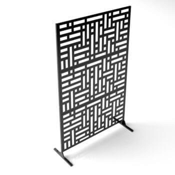 paravent intimité 3 panneaux noir