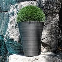 jardinière conique grise lifestyle