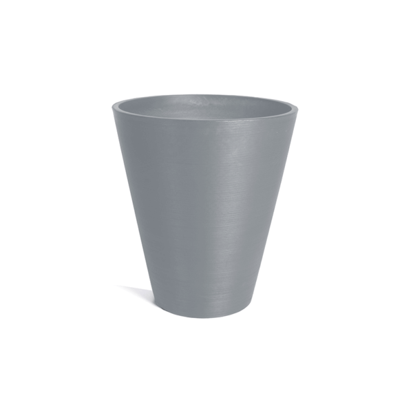 jardinière conique grise