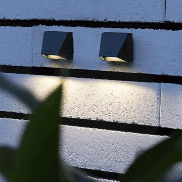 outdoor lighting mini wedge dark lifestyle