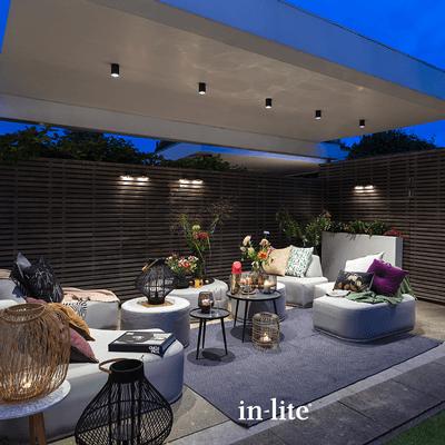 éclairage extérieur scope ceiling lifestyle