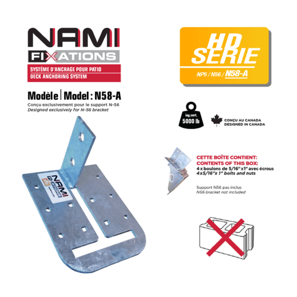 fixation nami adapter n58a