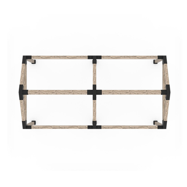 pergola double grid 30 6x6