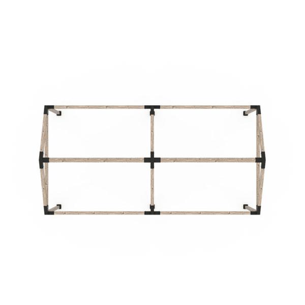 pergola double grid 30 4x4