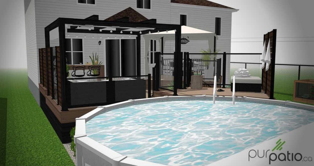 photo couverture patio de piscine st-constant