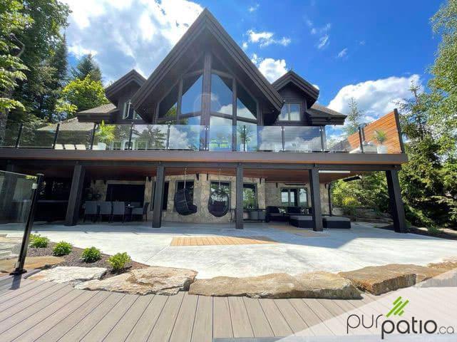 terrasse moderne chalet laurentides